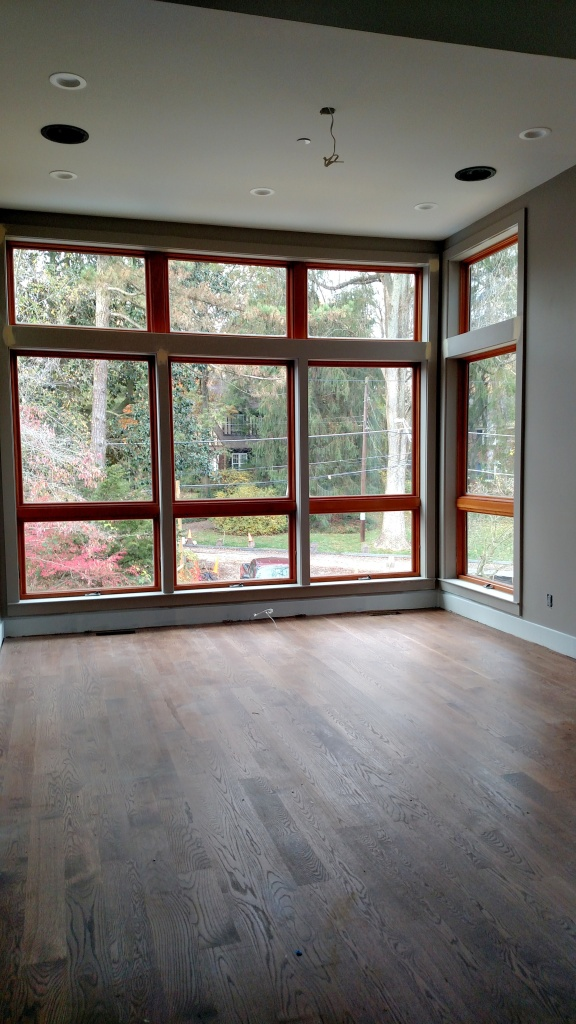 living room wood floors stained